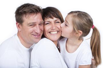Glückliche kleine Familie