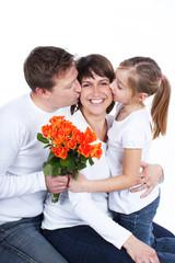 Gratulation zum Muttertag - Familie