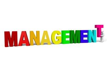 Colorful letters concept