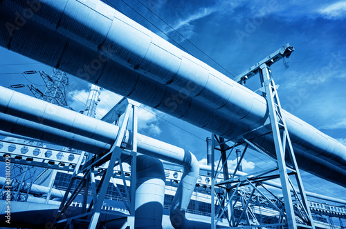 Pipes at thermal electic power station. Industry - 81802029