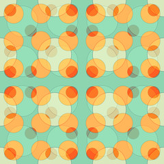 Seamless abstract colorful background made of circles