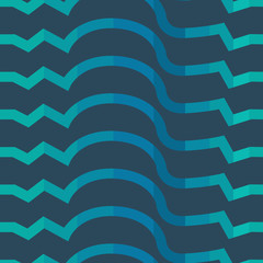 Seamless colorful background made of  abstract blue lines