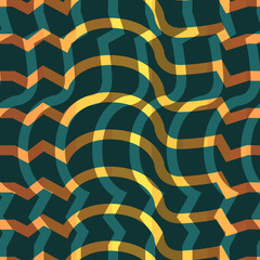 Seamless colorful background made of  abstract orange lines