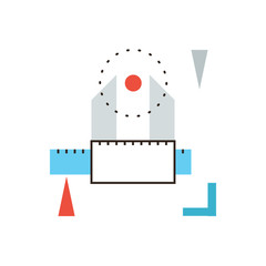 Engineering tool flat line icon concept