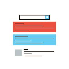 Internet advertisement flat line icon concept