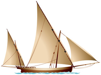 Sailing boat felucca