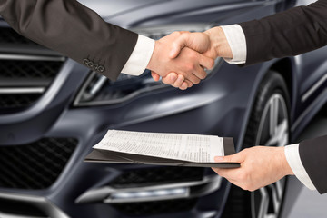 car salesperson and agreement