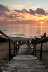 tramonto a sabaudia