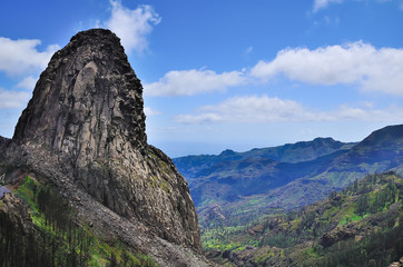 Picturesque rock Roque de Agando