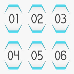 Paper stickers with numbers
