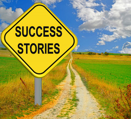 success stories road sing yellow