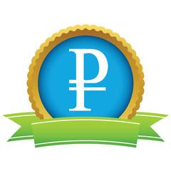 Gold ruble logo