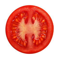 Fresh red tomato isolated on a white backround