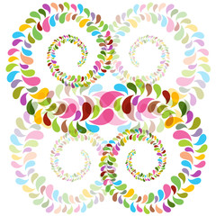 abstract bright bubbles spirals
