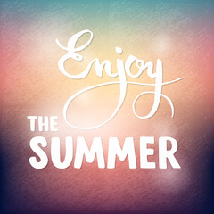 Summer calligraphic design element for poster or flyer
