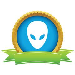 Gold extraterrestrial logo