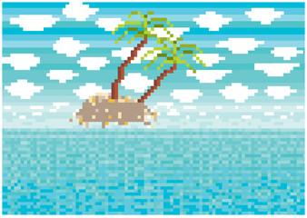 pixels vector paradise island