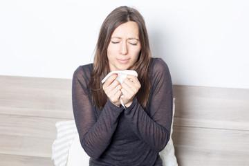 Frau alergisch