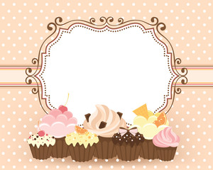 Greeting card with muffins
