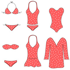Types of women swimwear