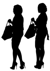 Women and bag