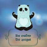 panda bear making yoga.