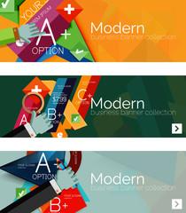 Modern flat design infographic banners