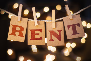 Rent Concept Clipped Cards and Lights