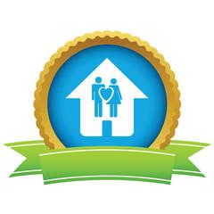 Gold love home logo