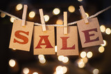 Sale Concept Clipped Cards and Lights