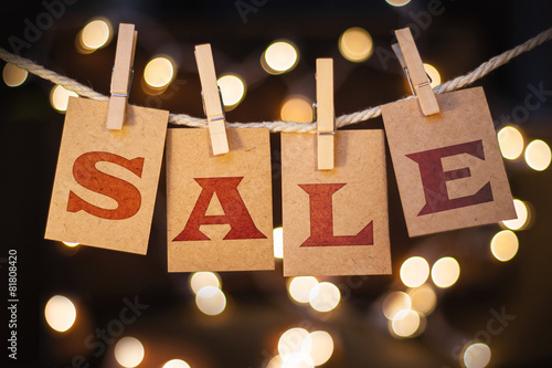 Sale Concept Clipped Cards and Lights - 81808420