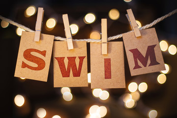 Swim Concept Clipped Cards and Lights