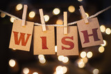 Wish Concept Clipped Cards and Lights Concept Clipped Cards and