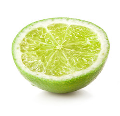 Lime half isolated on white background