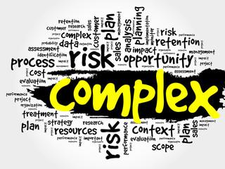 Complex word cloud, business concept