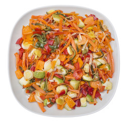 Plate with vegetables mix