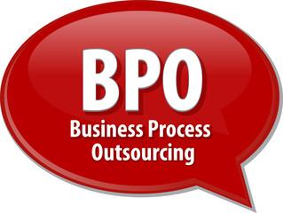 BPO acronym word speech bubble illustration