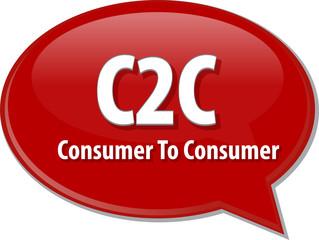 C2C acronym word speech bubble illustration