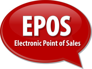 EPOS acronym word speech bubble illustration