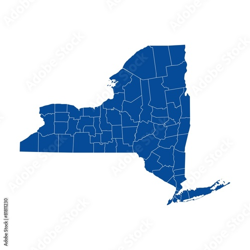 New York state - county map | Buy Photos | AP Images | DetailView