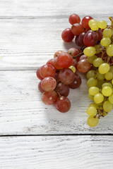 Tasty Grapes on white boards