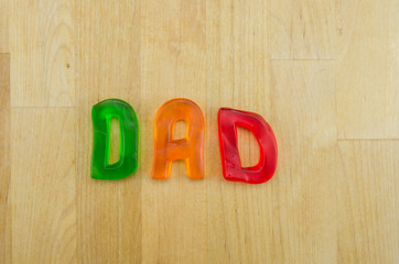 Gummy words Dad