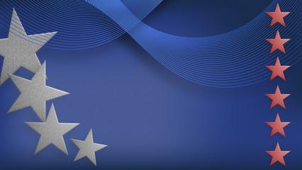 Feiertag, Unabhängigkeitstag, vierter Juli, Sterne und Streifen