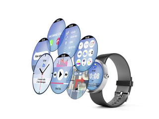 Smart watch with different apps