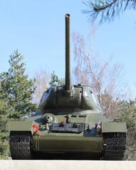 танк Т-34 в городе Ставрополь