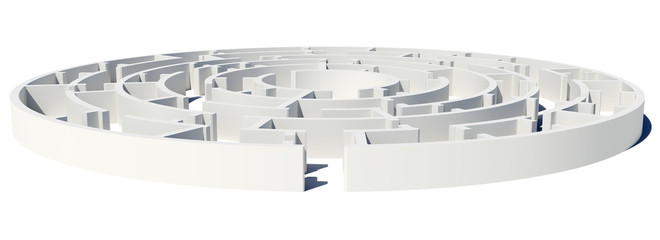 Closed Side view of maze with enter