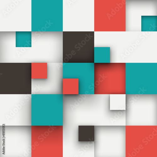 Vector background. Illustration of abstract squares. © VAlex