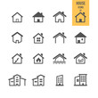 House icons. Real estate. Vector illustration. - 81815035