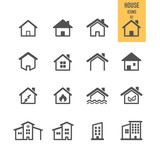 House icons. Real estate. Vector illustration.
