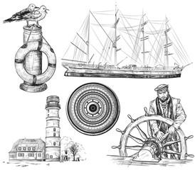 sea and nautical elements